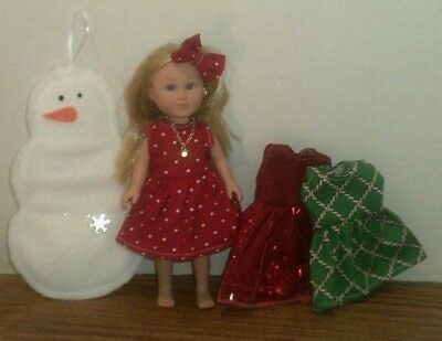 Doll Clothes-fits Mini American Girl My Life-Holiday-Decoration-Lot-Gift Set Rd