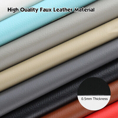 "Vinyl Fabric Upholstery 54""W Automotive Boat Outdoor Replace Faux Leather 7Color"