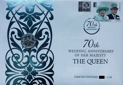 MINT - 2017 70th Wedding Anniversary of Her Majesty The Queen PNC (UK Coin) RARE