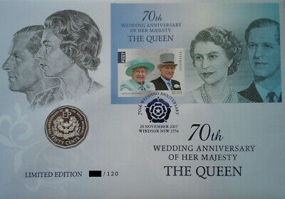 MINT - 2017 70th Wedding Anniversary of Her Majesty The Queen PNC Australia RARE