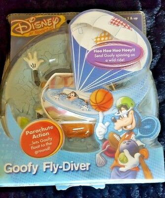 NEW! Collectible Disney Jr Sports,Goofy Fly-Diver,Parachute Action 3+ yrs