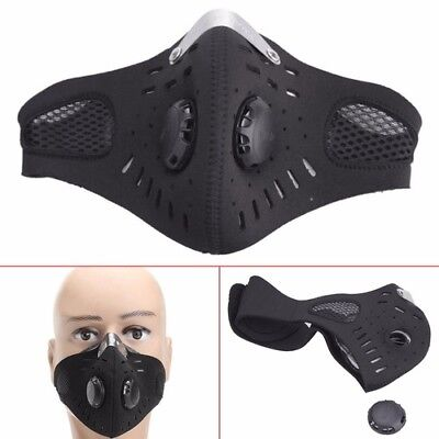Anti Dust Riding Motorcycle Bicycle Cycling Ski Half Face Mask Filter Outdoor