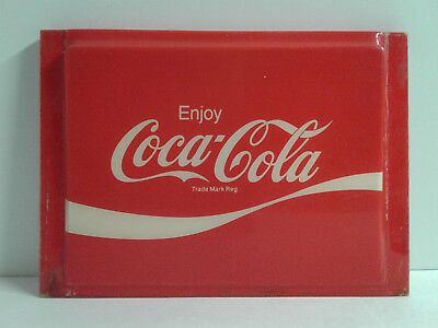 Collectible Coca-Cola Classic Plastic Sign 9,25 x 12.5 x 1.5