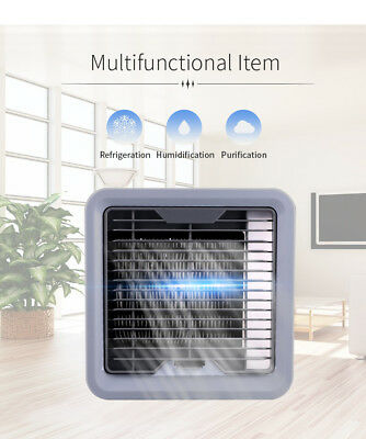 Mini Small Fan Cooling USB Rechargeable Air Conditioner Portable Cooler Desktop