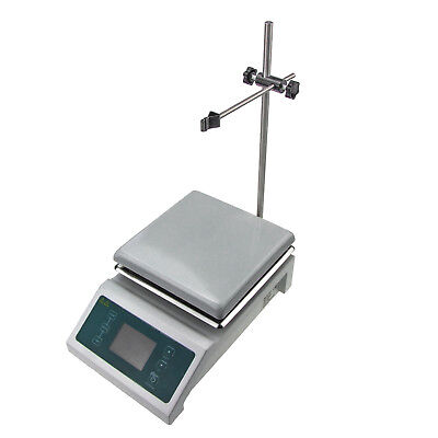 Magnetic Stirrer w/ Hot Plate Digital Thermostat 600 W Heating 100-2000 rpm