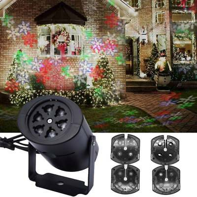 Christmas Moving LED Snowflake Lights Projector Snow Lamp Stage Light Laser Xmas