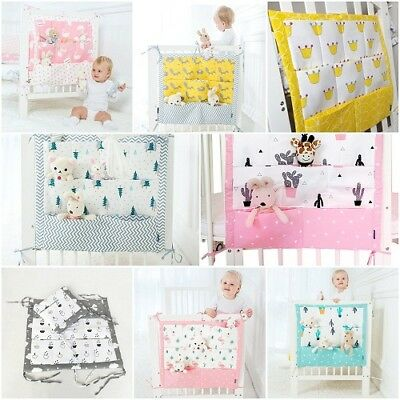 Bag Baby Cot Bed Organize Brand Baby Cotton Crib Organizer 60*50cm Toy Diapers