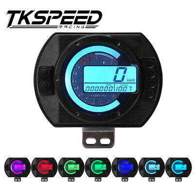 12500 RPM Motorcycle Speedometer LCD MPH Backlight Motorbike Speedo Meter