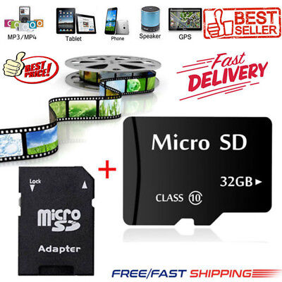 32GB Micro SD Speicherkarte TF Karte Class10 Flash + Adapter Für PC Phone MP4