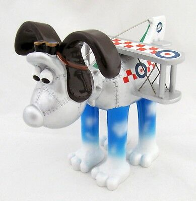 Gromit Airplane Figurine Unleashed Bristol Bulldog 2013 Hand Painted Wallace Dog