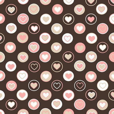 SET OF 6 X PERSONALISED 89 x120.7MM PINK HEARTS WINE BOTTLE LABELS
