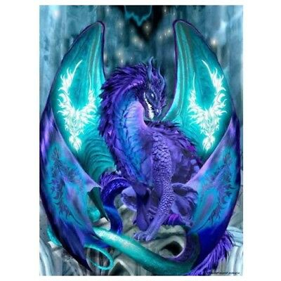 UK Blue Dragon Full Drill 5D Diamond Painting Embroidery Cross Stitch Kit Decor