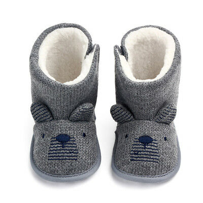 Infant Girls Boys Baby child Snow Boots Soft cartoon Anti-Slip Warm Winter Shoes