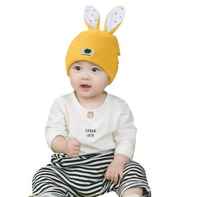 Toddler Infant Baby Kids Winter Cartoon Rabbit Ear Hat Baby Keep Warm Knitted