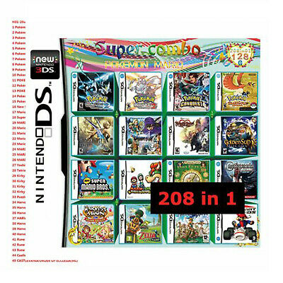 208 in 1 Multi Games Cartridge Multicart for Switch DS NDS NDSL NDSI 2DS 3DS