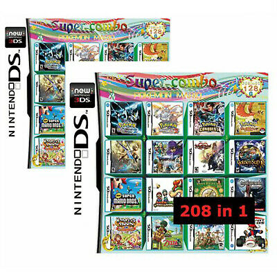 208 in 1 Multicart Vedio Game Cartridge for Switch DS NDS NDSL NDSI 2DS 3DS