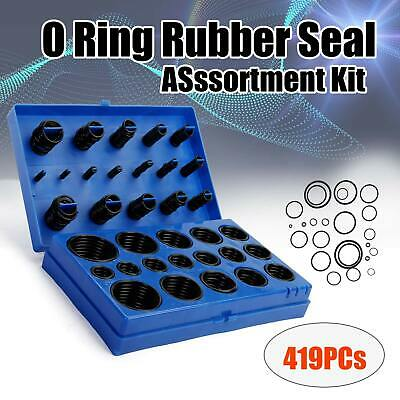 419 Pc O Ring Rubber Seal Plumbing Set Plumber Kit Rubber O-Ring Assortment Set