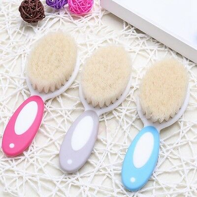 Newborn Baby Brush Wooden Hairbrush Natural Hair Care Brush Soft Bristles Scrub