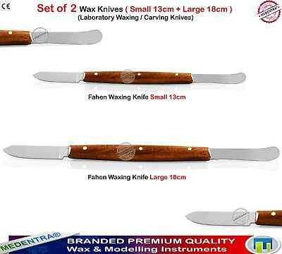 Wax Knife 18cm+13cm Dental Lab Technician Molding Clay Wax Carving Knives Mixing