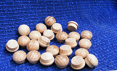Oak solid wood  mushroom head screw covers 25pcs 16mm