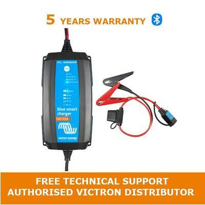 Victron Energy Blue Smart IP65 Battery Charger 12/15(1) 230V & Clamp connector