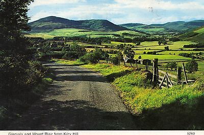 Postcard   Scotland  Glenisla and Mount Blair from Kirby Hill posted
