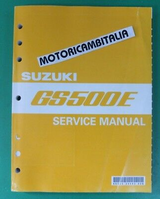 Suzuki Gs500 E Service Manual Handbook Repair  Workshop Werkstatthandbuch