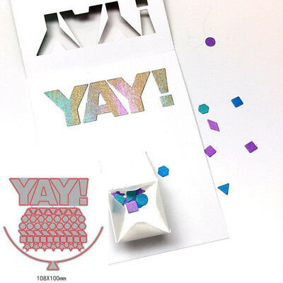 YAY Geometric Patterns Metal Cutting Dies DIY Card Making Stencil Embossing Gift