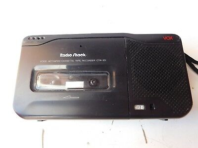 Vintage Retro Radio Shack Voice Activated Cassette Tape Recorder CTR-101 working