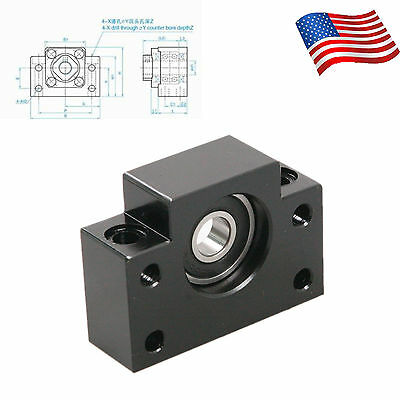 CHEERBRIGHT Ball Screw End Support BF12 Bearing Block for Ball Screw CNC Parts