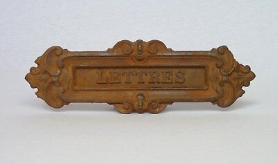 Antique French Ornate Cast Iron Door Letter Slot