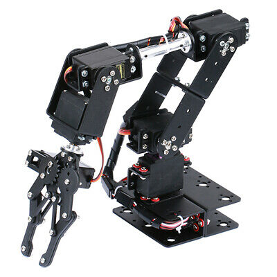 Prettyia Robotics Learning DIY 6-Dof Servo Robot Arm Circuit Kit for Arduino
