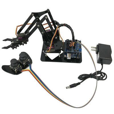 Prettyia 4-Dof Servo Controlled Robot Arm Circuit Kits for Arduino Robotics