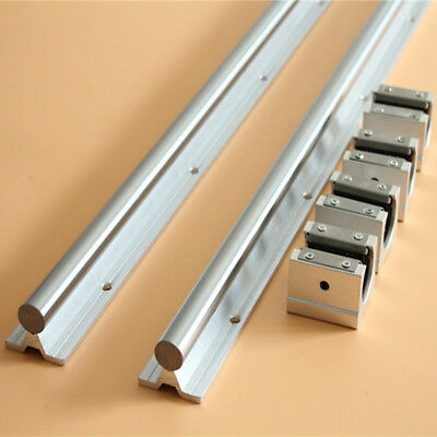 2 Set SBR20-1500mm Supported Linear Rail Shaft Rod+SBR20UU Block Bearing For CNC