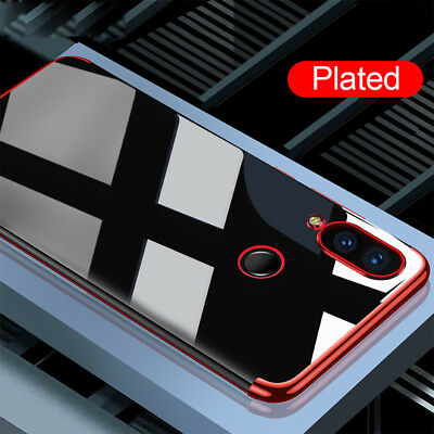 For Huawei Y9 2019 Y7 Y6 Prime Y5 2018 Plated Soft Silicone Clear TPU Case Cover