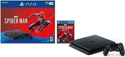 Brand New Sony PlayStation 4 PS4 Slim 1TB Marvel's Spider-Man Bundle
