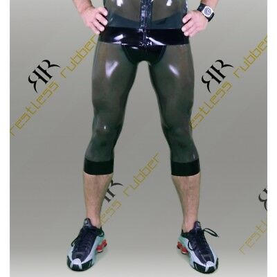 Latex Leggings Freerunner ¾ Herren oliv transp. XS S M L XL XXL Rubber