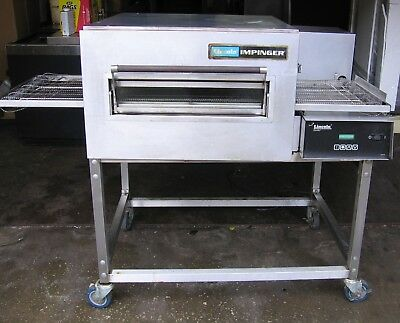 Lincoln Impinger Natural Gas Powered Conveyor Oven w/ Sandwich Door Pizza Subs