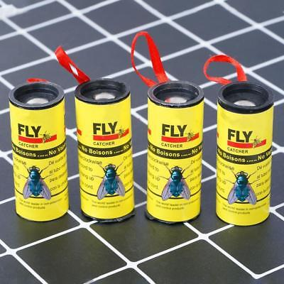 4 Rolls of Insect Bug Fly Glue Paper Catcher Trap Ribbon Tape Strip Stick,New