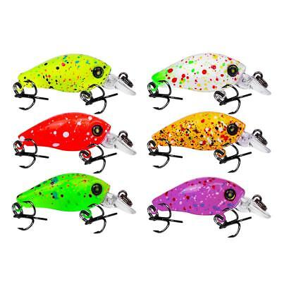 6pcs Fishing Lure Minnow Artificial Bait 3D Eyes Crankbait with Hook Fish Tackle