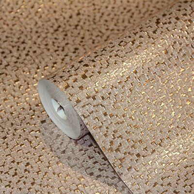 Mineral Rose Gold Mini Mosaic Wallpaper Metallic Foil Effect by Arthouse 294200