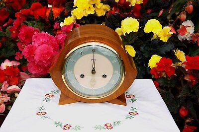 Smiths Enfield Antique Art Deco Striking Mantel Clock, 1956. Outstanding & Rare!