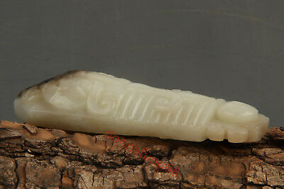 Chinese Exquisite Hand-carved Hetian jade Pendant statue