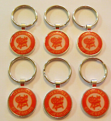 6  Heroines Of Jericho  Key Chains  Sterling Silver Plated