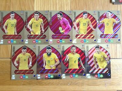 Panini Adrenalyn XL Fifa World Cup Russia 2018 Australian Limited Edition Cards