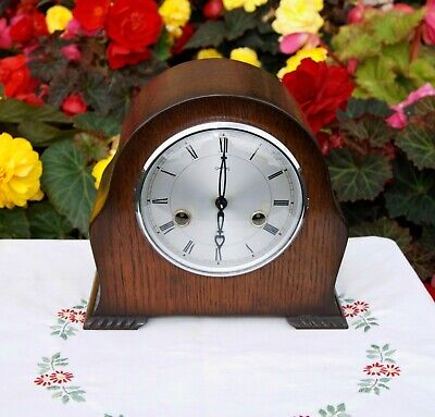 Smiths Enfield Antique Art Deco Striking Mantel Clock, 1953. Excellent!