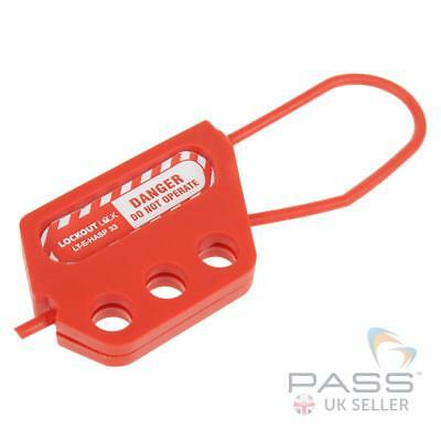 Lockout Heavy Duty Nylon Tagout Hasp - 3 Holes, 3mm Hoop, 45mm Clearance