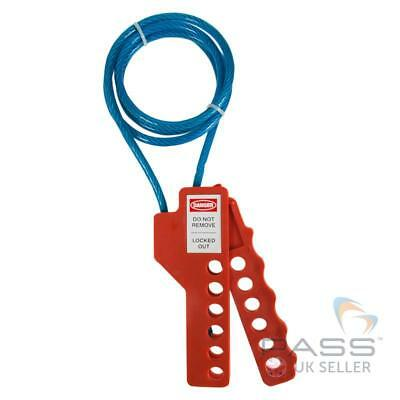 LOTO Squeezer Multi-Purpose Cable Lockout and Hasp - Steel Core, Blue, 1 metre