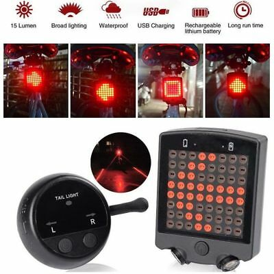 Remote Control Wireless Bike Bicycle Laser LED Tail Lamp Turn Signal Light 64LED