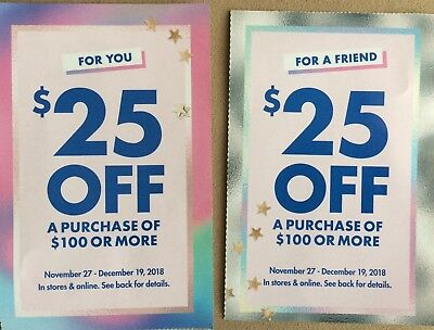 2 Justice Style Perks Coupons - $25 Off $100+ Purch In Store & Online exp 12/19